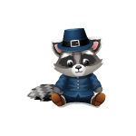 Thankful Pilgrim Raccoon