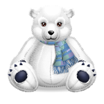 Supersize Polar Teddy Bear