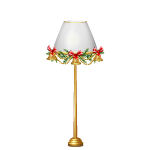 Christmas Decorated Floor Lamp