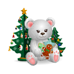 Christmas Mood Bear with Gingerbreads