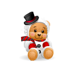 Snowman Teddy Bear