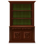 Wooden Poinsettia Carved Tartan Bookcase