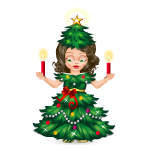 Animated Christmas Tree Doll with Candles