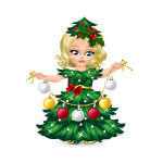 Animated Christmas Tree Doll with Garland