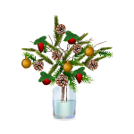 Christmas Tree Branches in Vase 2