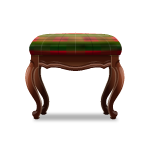 Red and Green Tartan Ottoman