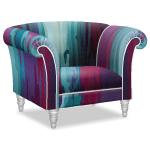 Angled Waterfall of Colors Designer Armchair
