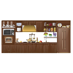 Animated Wooden Kitchen