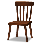 Habi - Angled Rustic Wooden Chair