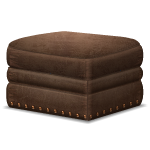 Habi - Brown Leather Ottoman