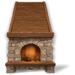 Habi - Cozy Rustic Fireplace