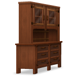 Habi - Angled Mahogany Cupboard with Glass Doors
