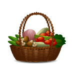 Habi - Basket with Vegetables