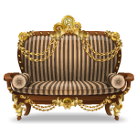 Striped Steampunk Sofa