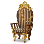 Angled Striped Steampunk Armchair