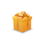 Gold Christmas Present Box