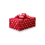 Red Christmas Present Box