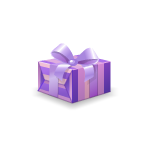 Purple Christmas Present Box