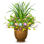 Easter Outdoor Flower Arrangement