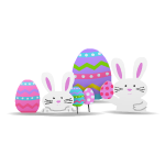 Eggs and Bunnies Lawn Decor
