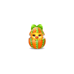 Orange Easter Chick in Shell