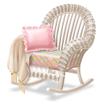 Angled Rattan Rocking Chair