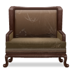 Brown Armchair with Spiderweb