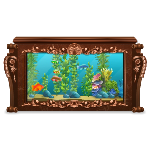 Brown Marble Fish Tank