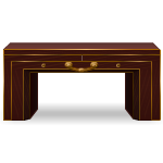 Habi - Mahogany Table with Copper Decor