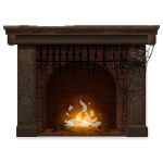 Fireplace with Angry Fire