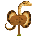 Jungle Book Sign with Snake