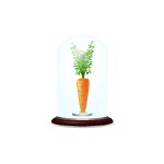 Habi - Carrot in Glass Dome