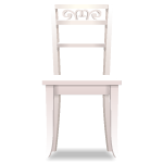 White Chair with Carved Back 1