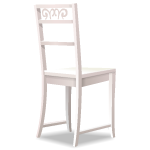White Chair with Carved Back 2