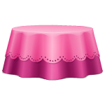 Habi - Round Pink Table