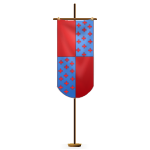 Red and Blue Pennant