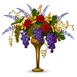 Elegant Floral Bouquet in Gold Vase