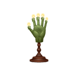 Witch Hand Candle