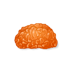 Orange Jellaween Brain