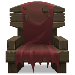 Old Chair with Red Cloth