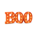 Orange Boo Sign
