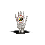 Skeleton Hand with Eye