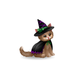 Banner Kitty Boo Witch Plushie