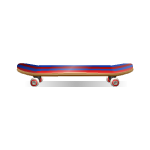 Purple and Red Skateboard