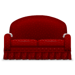 Dark Red Old Style Sofa