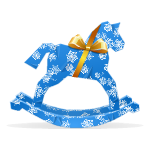 Wrapped Rocking Horse Gift