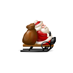 Santa on a Sleigh Figurine