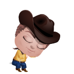 Sleeping Cowboy Mini Buddy