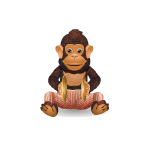 Wind Up Monkey with Cymbals