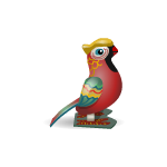 Antique Tin Toy Parrot